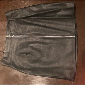 Forever 21 Leather Zip up skirt